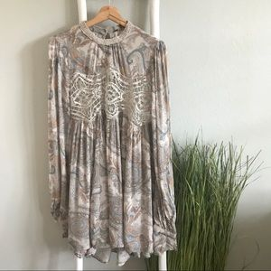 Free People | Sweet Paisley Printed Lace Tunic